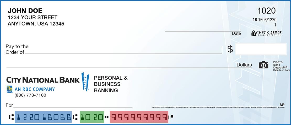 Canada cheque bank of royal Royal Bank